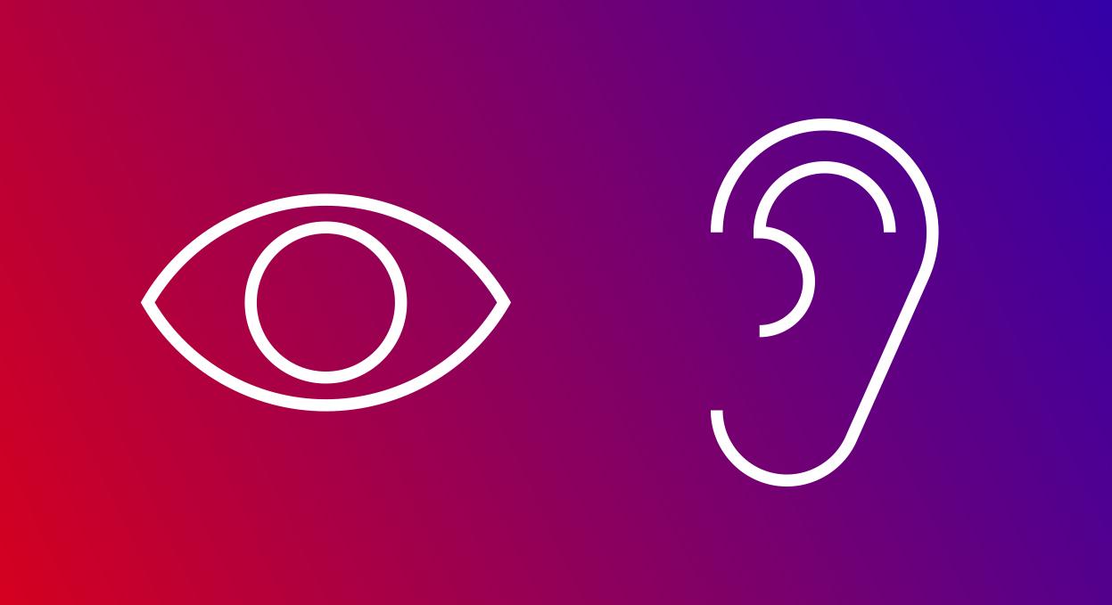 eye-ear interaction icon